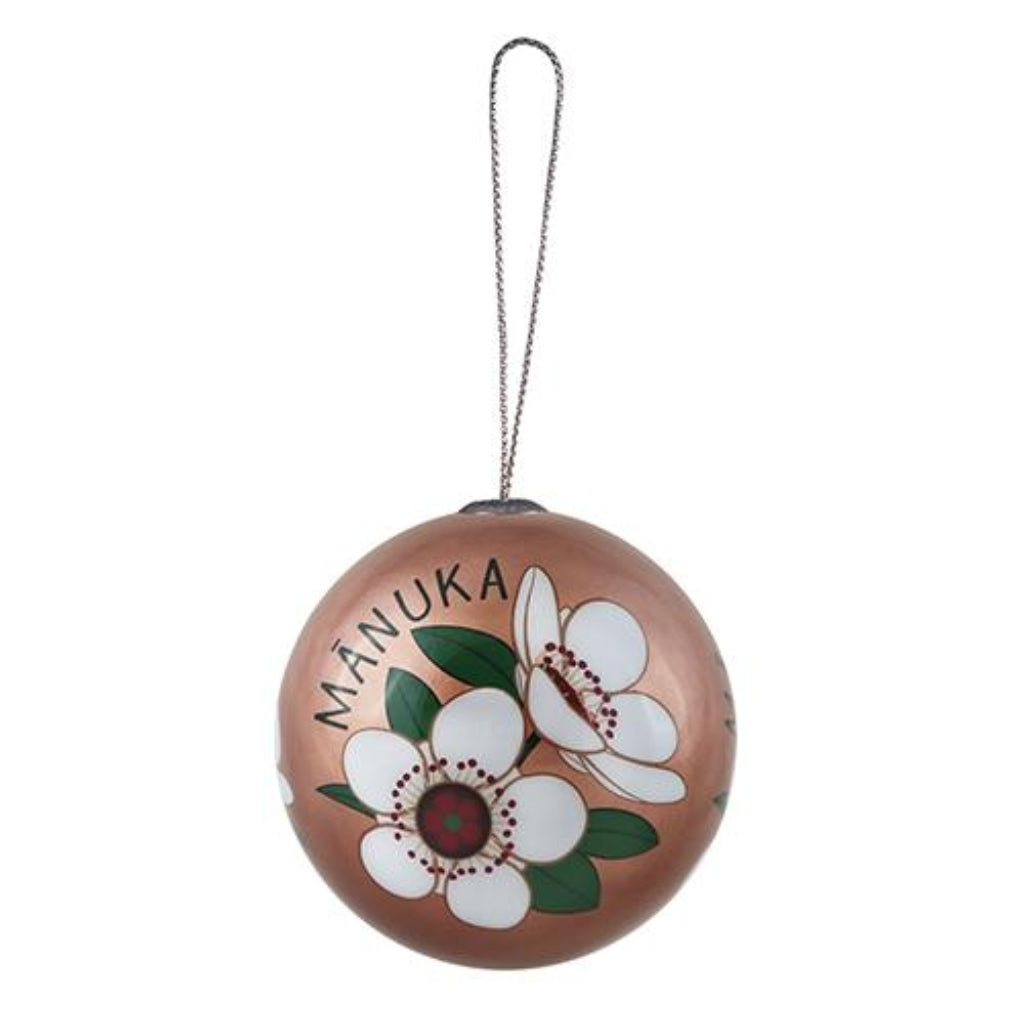 Xmas Ball Decoration - NZ Flora Manuka - Home & Living | DQ & Co.
