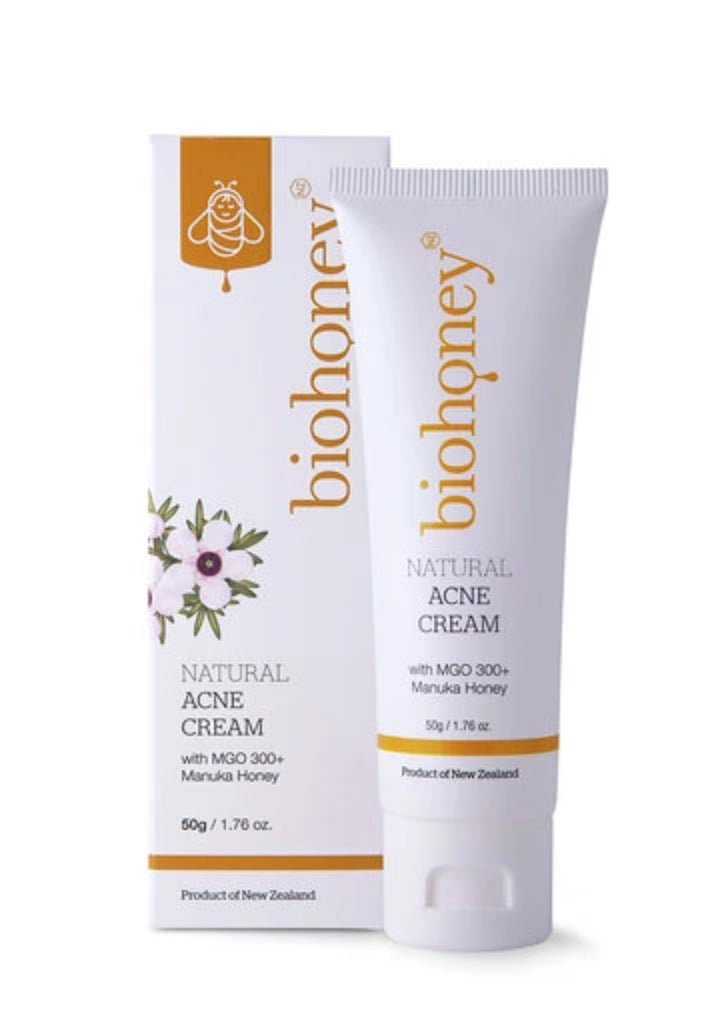 Natural Acne Cream with MG 300+ Manuka Honey - Face & Body | Biohoney