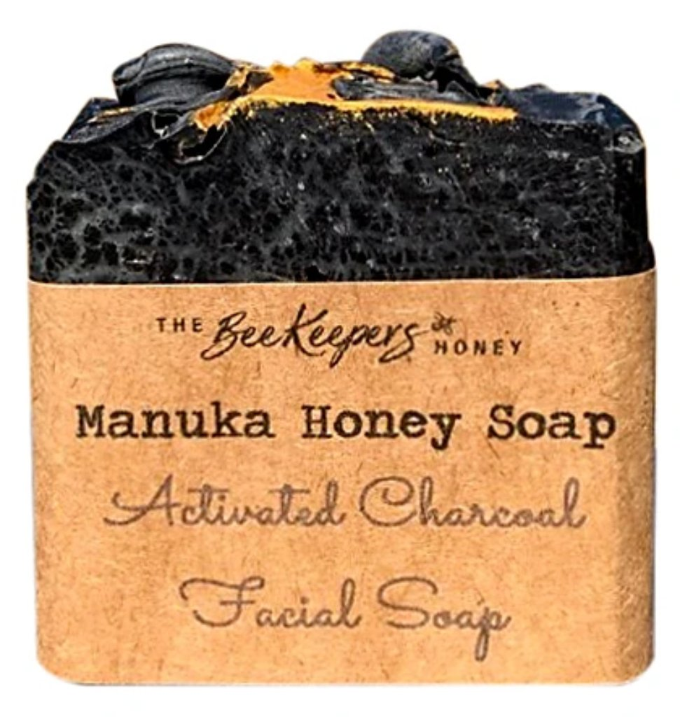 Activated Charcoal & Manuka Honey Facial Soap - Face & Body | The BeeKeepers Honey