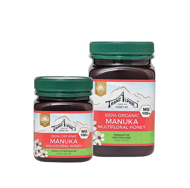 100+ MG Organic Manuka Multifloral Honey - Manuka Honey | TranzAlpine Honey NZ