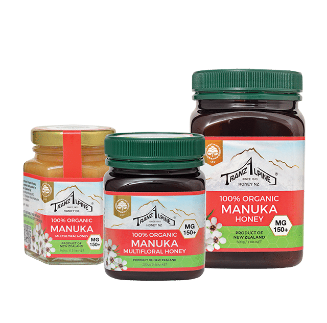 150+ MG Organic Manuka Multifloral Honey