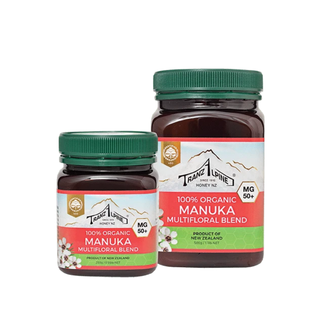 50+ MG Organic Manuka Multifloral Honey - Manuka Honey | TranzAlpine Honey NZ
