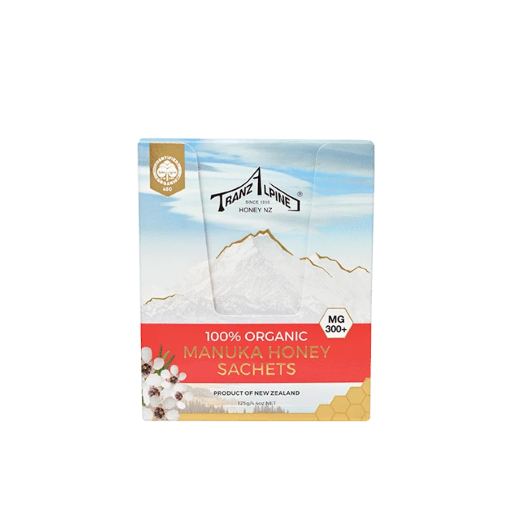 300+ MG Manuka Honey Sachets - Manuka Honey | TranzAlpine Honey NZ