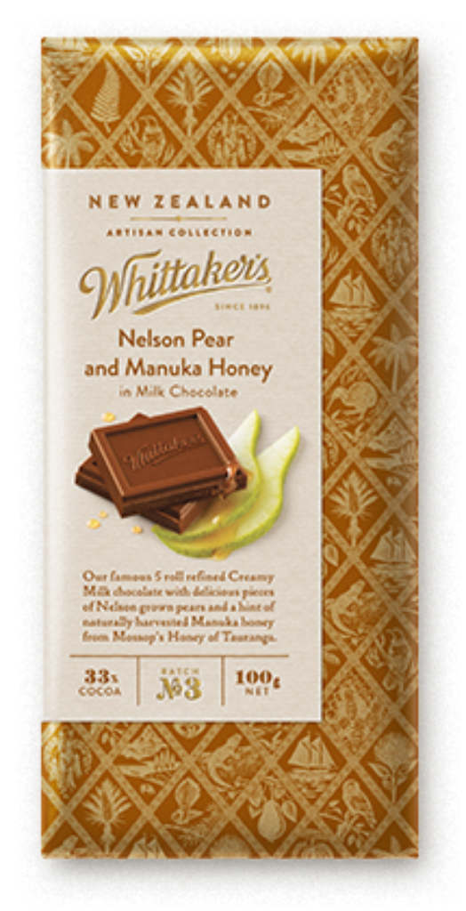 Nelson Pear & Manuka Honey Block - Food & Drink | Whittaker's