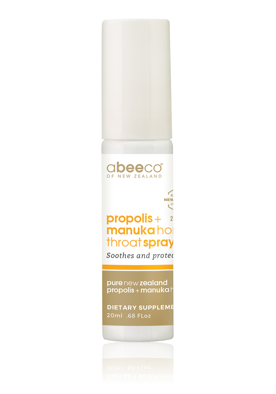 Propolis & Manuka Honey Throat Spray - Health & Supplements | abeeco