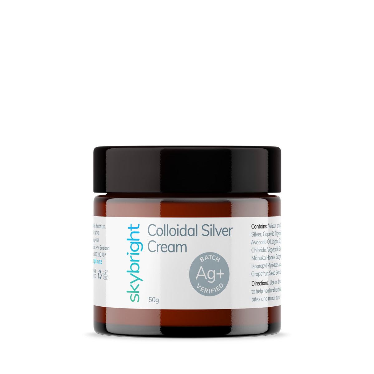 Colloidal Silver Cream - Face & Body | Skybright