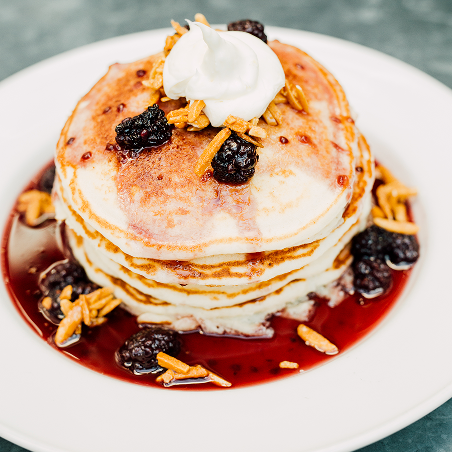 Seasonal stacked pancakes