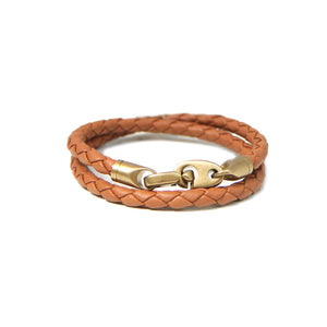 Journey Leather Bracelet - Baked Brown, XL