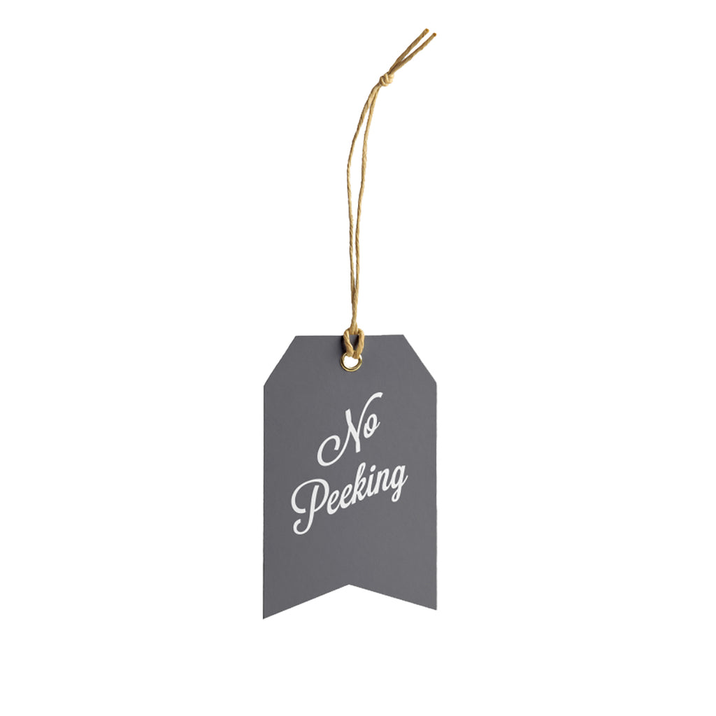 No Peeking Gift Tag - Grey