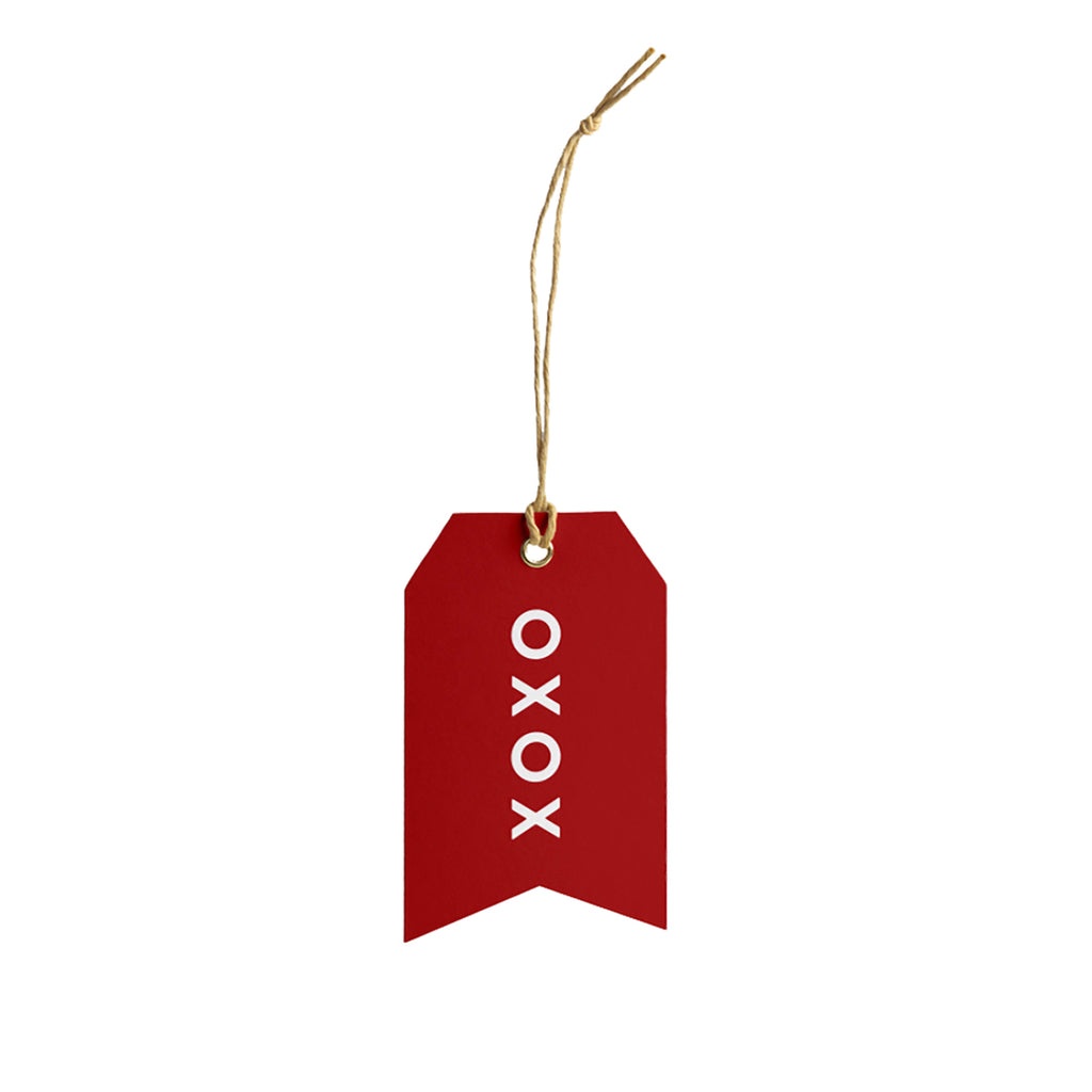 XOXO Gift Tag - Red