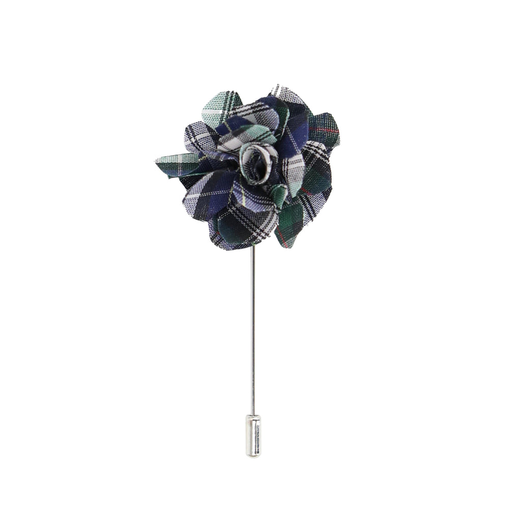 Lapel Pin - Plaid Flower