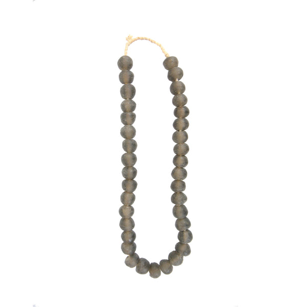 African Glass Beads - Gray, Medium