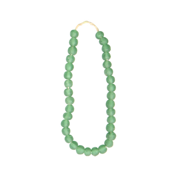 African Glass Beads - Green, Medium