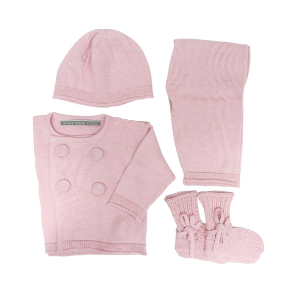 alicia adams pink alpaca wool baby set