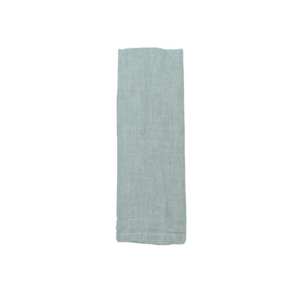 Washed Linen Napkin - Aqua
