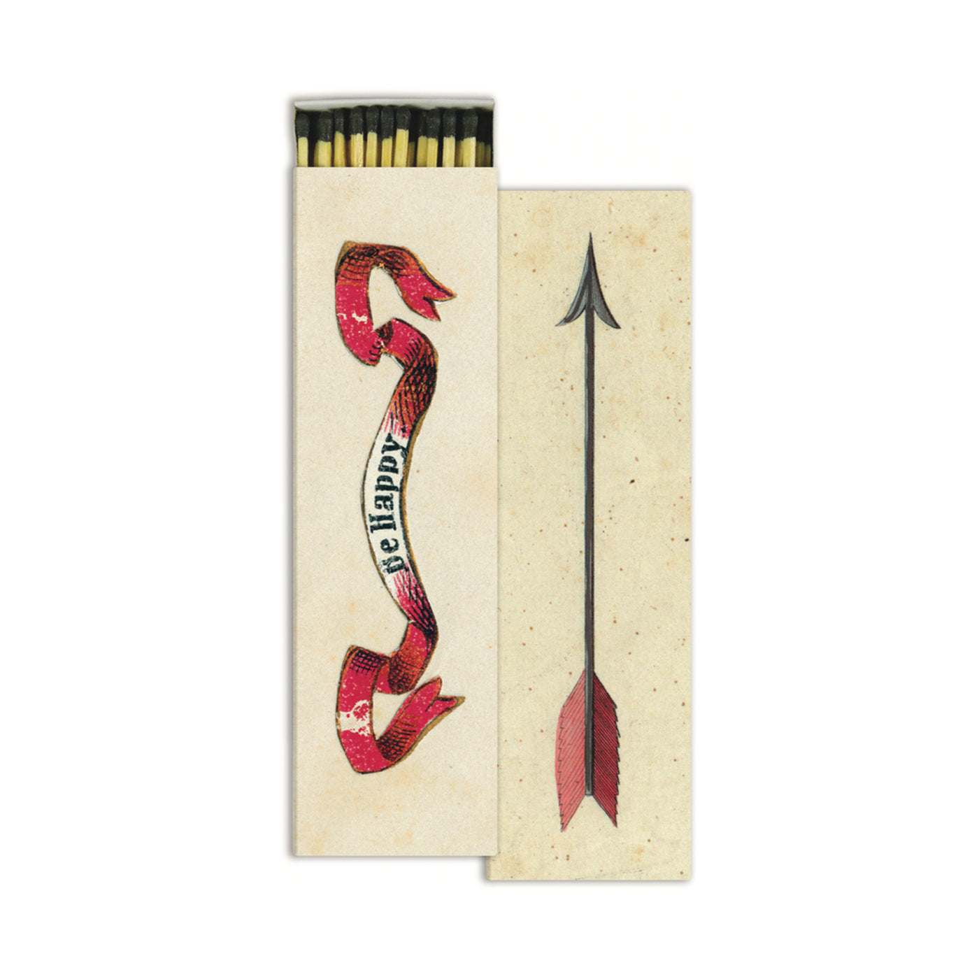 John Derian Matches - Be Happy Arrow