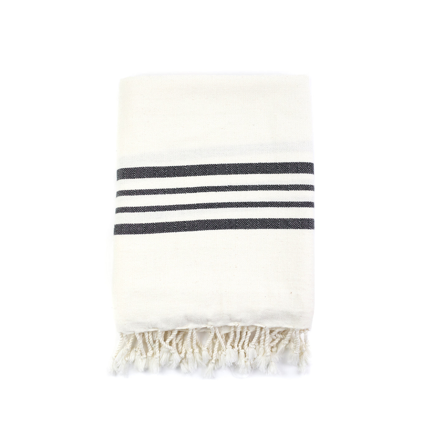 Natural Striped Bath Towel - Beige