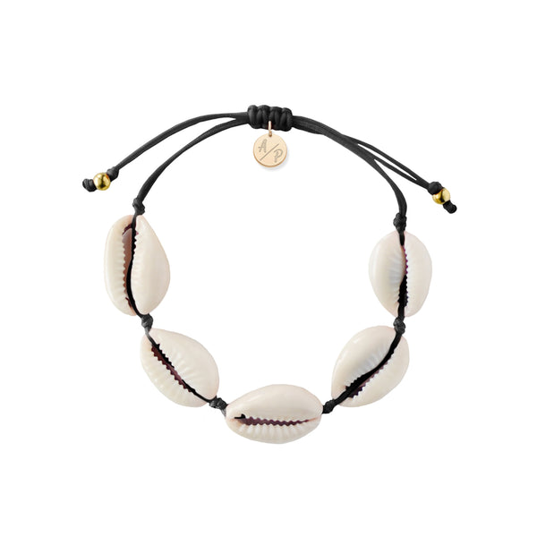 Natural Shell Bracelet - Black