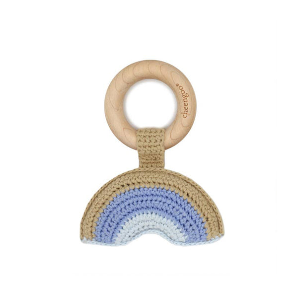 Rainbow Blue Teething Ring