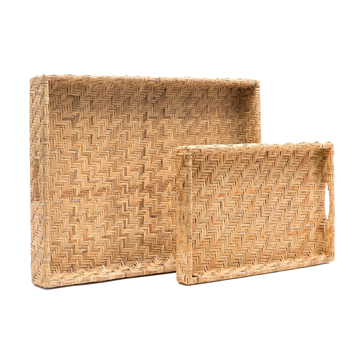 Cadie Rattan Tray - Small