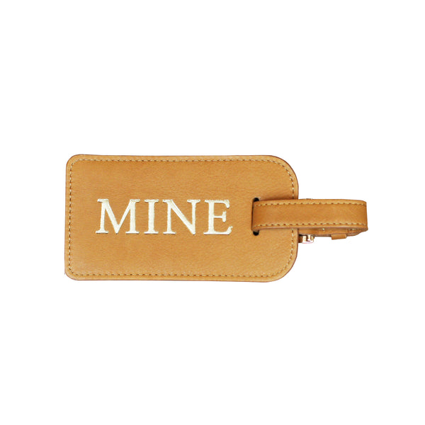 Mine Luggage Tag - Tan
