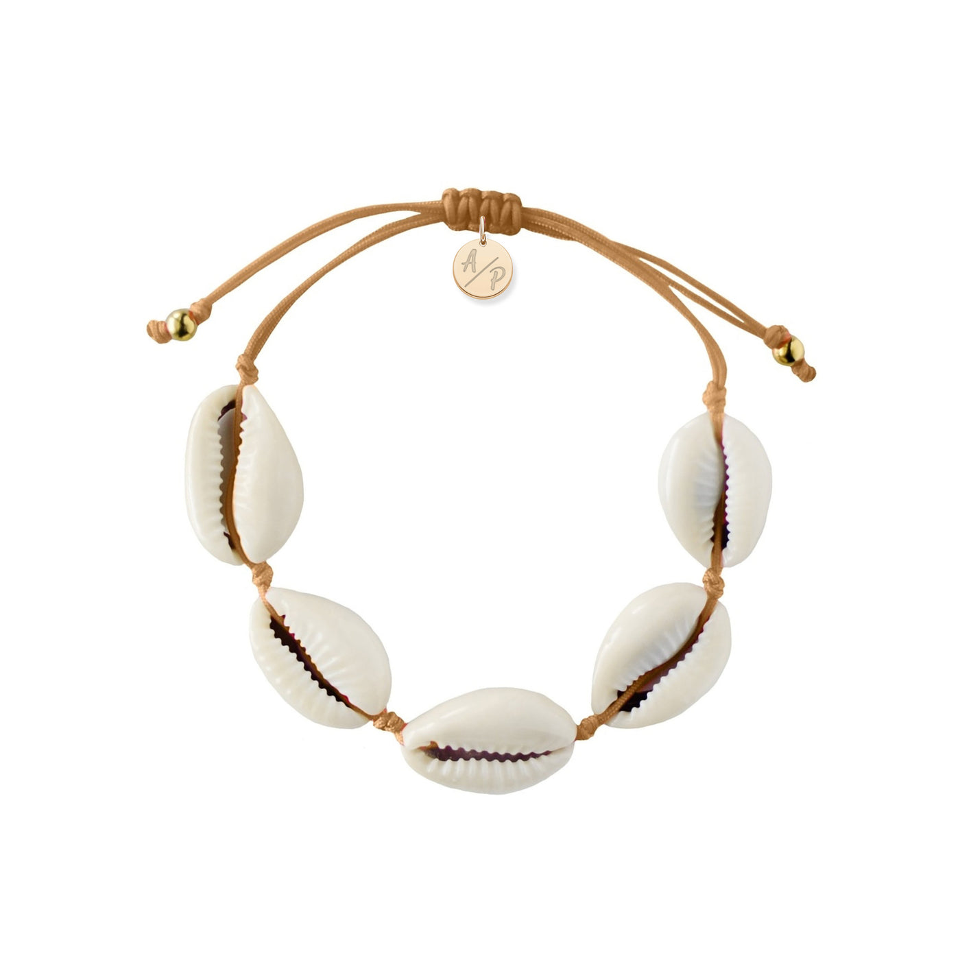 Natural Shell Bracelet - Caramel