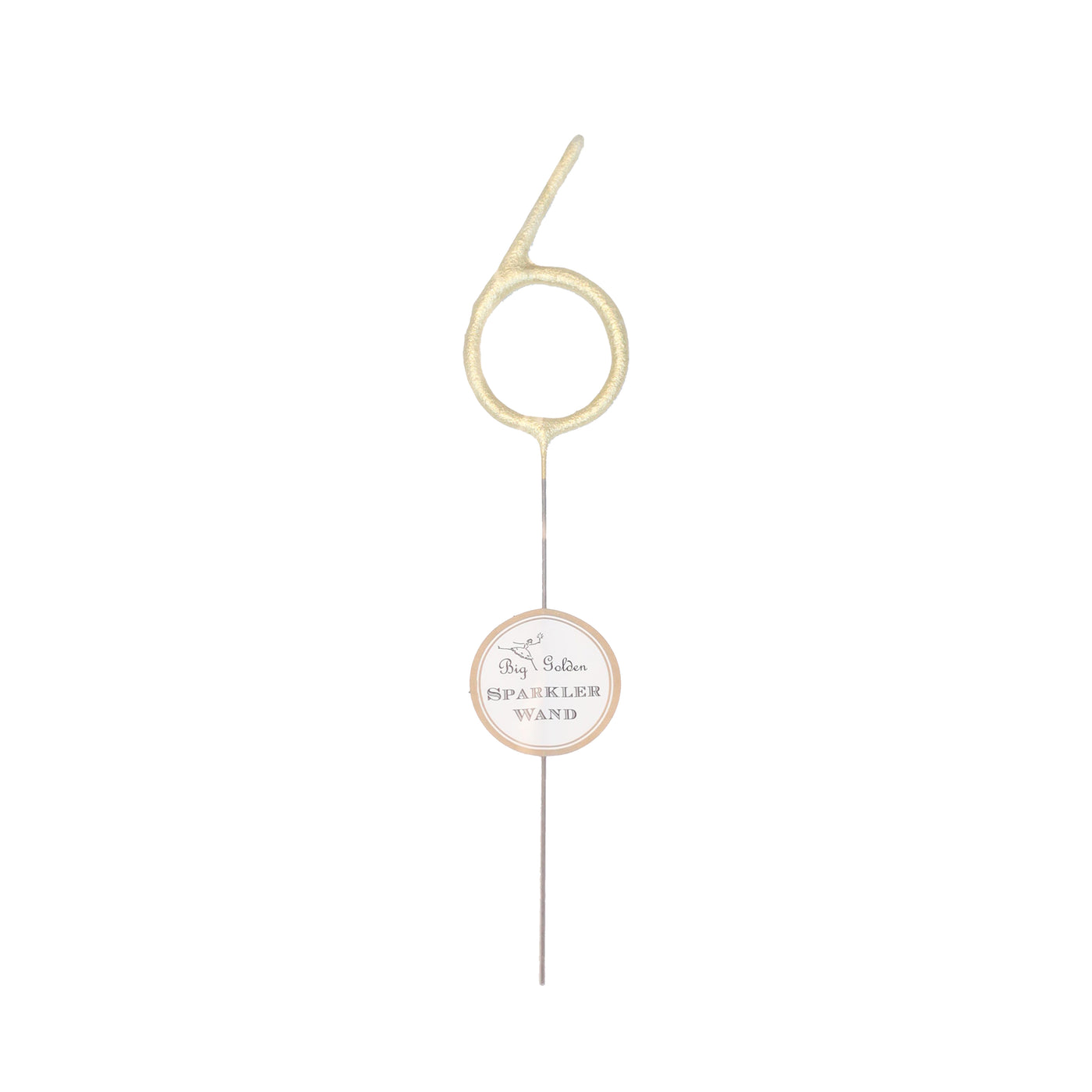 Large Golden Number Sparkler - 6