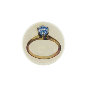 Button Mirror - Diamond Ring