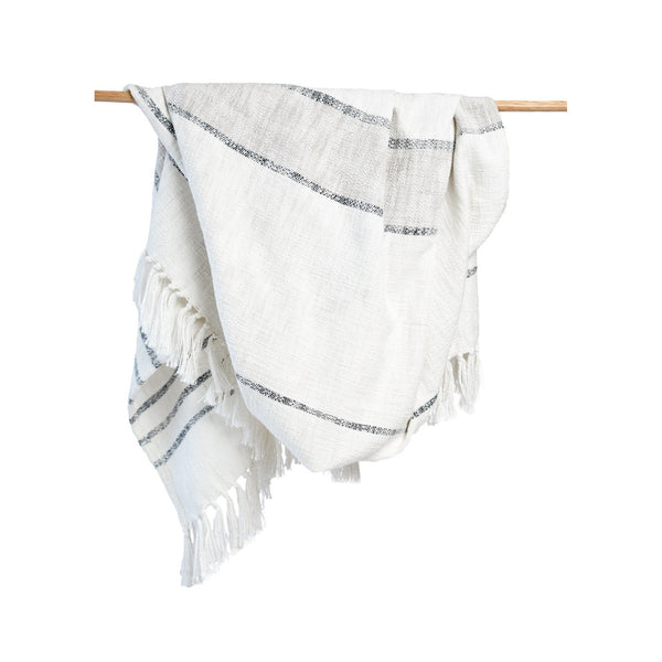 Duka Throw Blanket Ivory