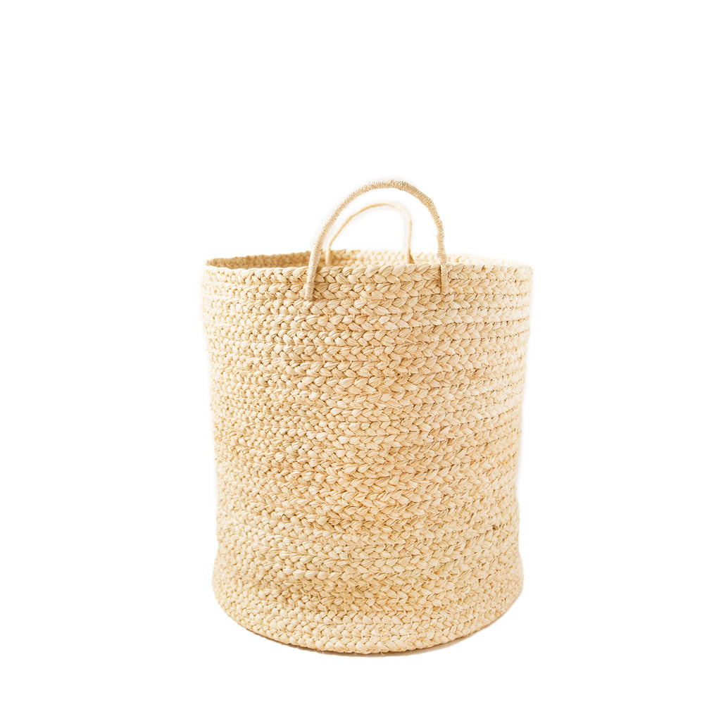 Braided Raffia Basket - Natural, Large
