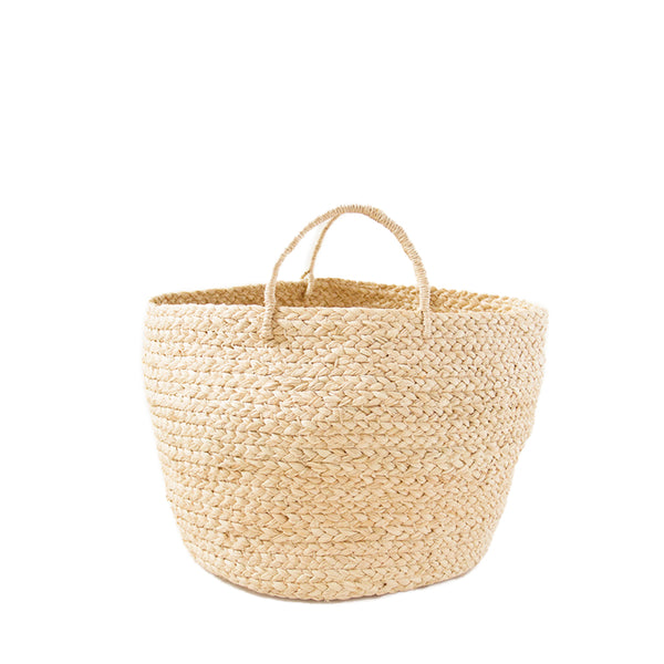 Braided Raffia Basket - Natural, Small
