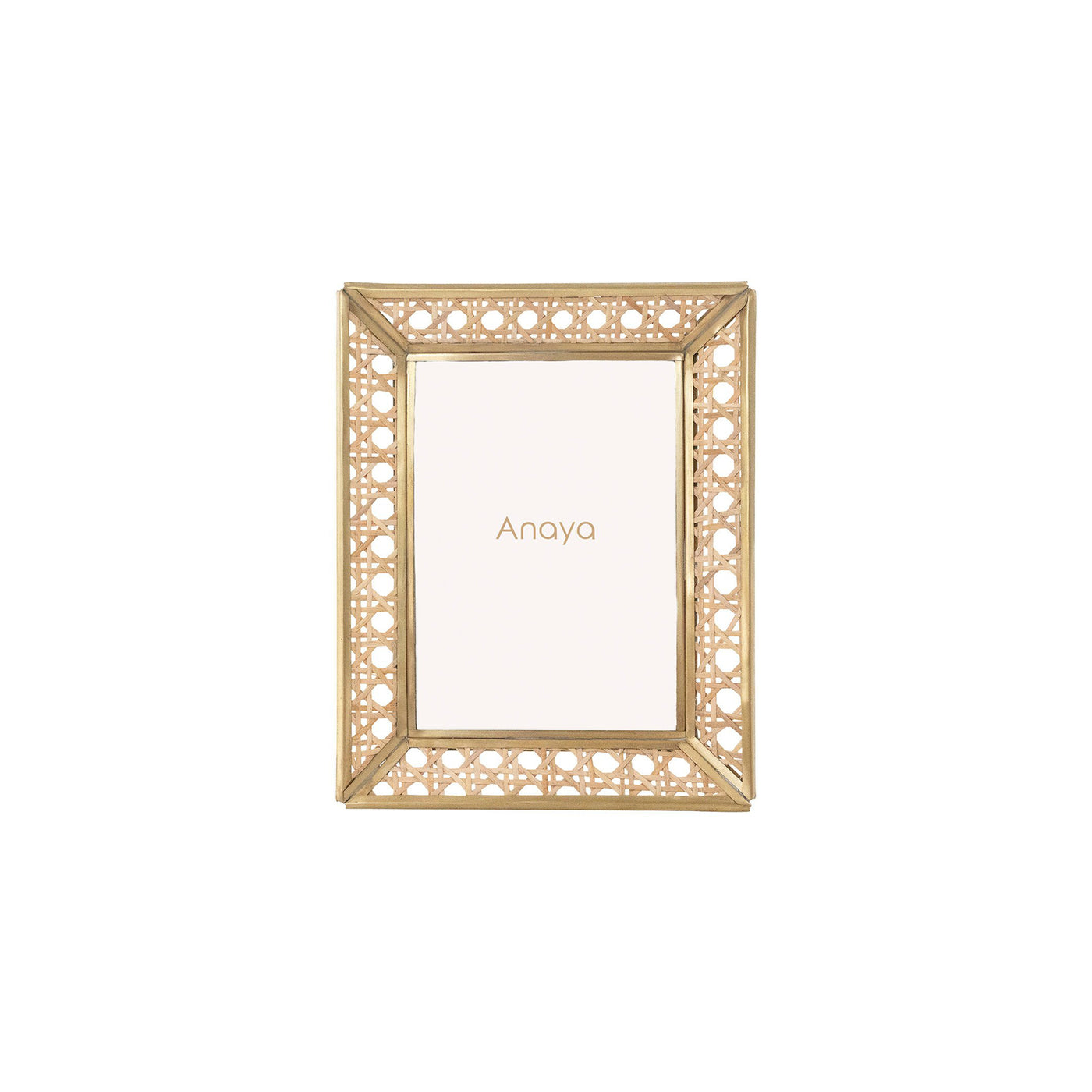 Natural Cane Wicker Picture Frame - 4x6