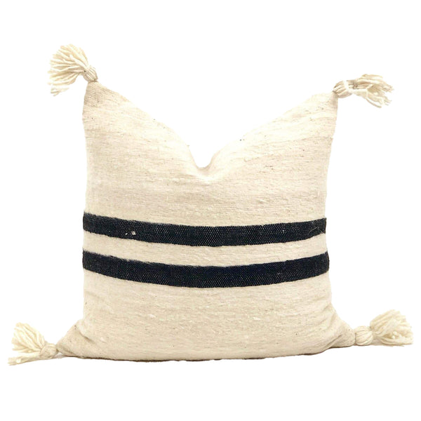 Moroccan Wool Throw Pillow - Fraz