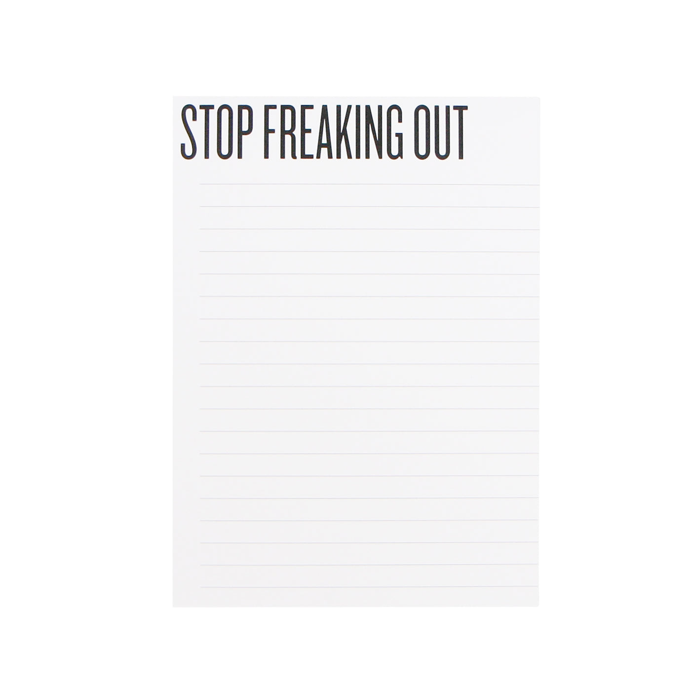 Stop Freaking Out Notepad