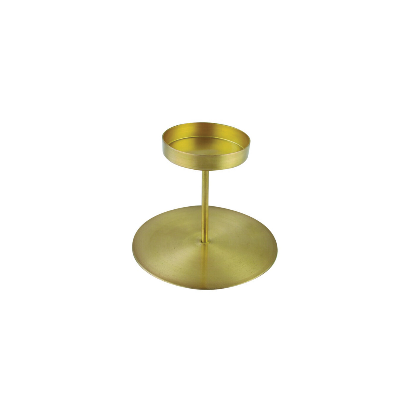 Gold Pillar Candle Holder - Tall