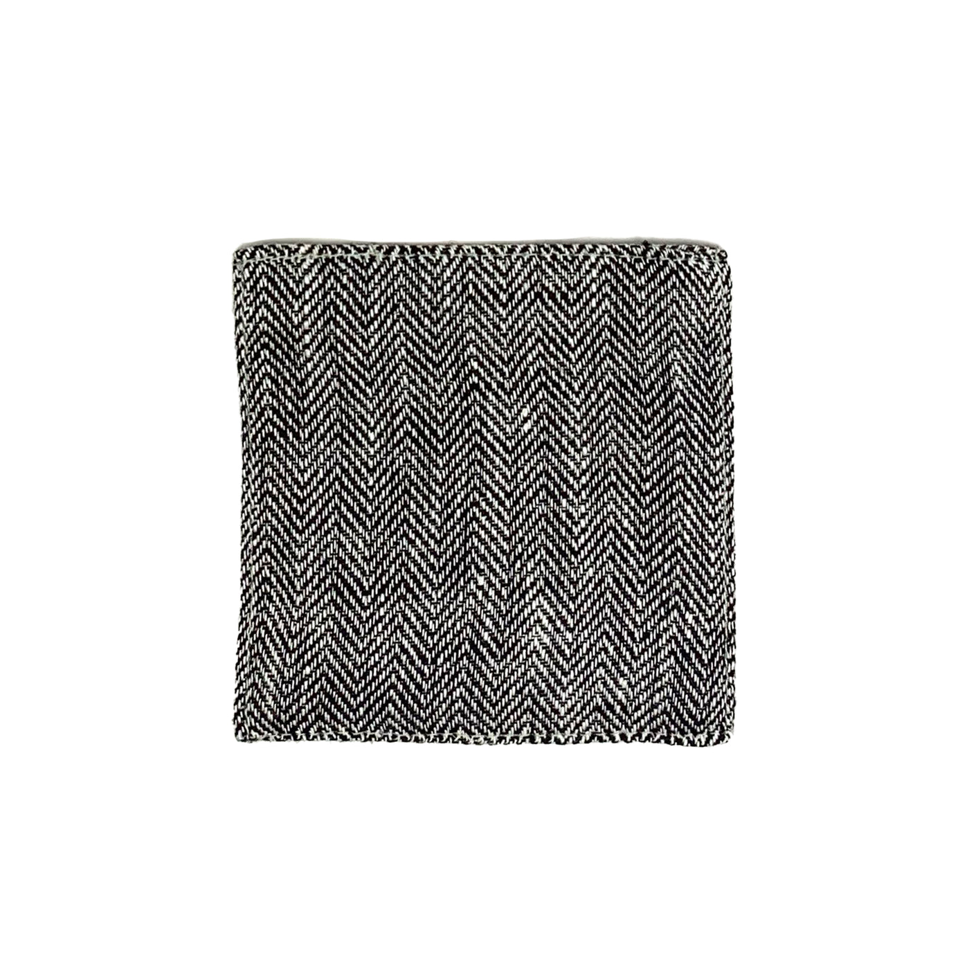 Linen Coaster - Gray Herringbone