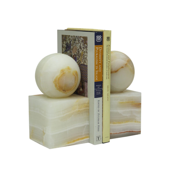 Ball & Cube Bookends - Onyx
