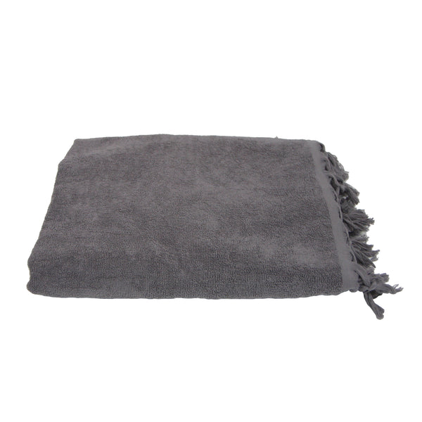 Fouta Towel - Grey Terry