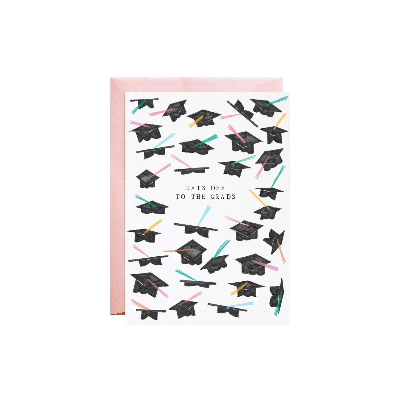 Graduation Hats Off Greeting Card