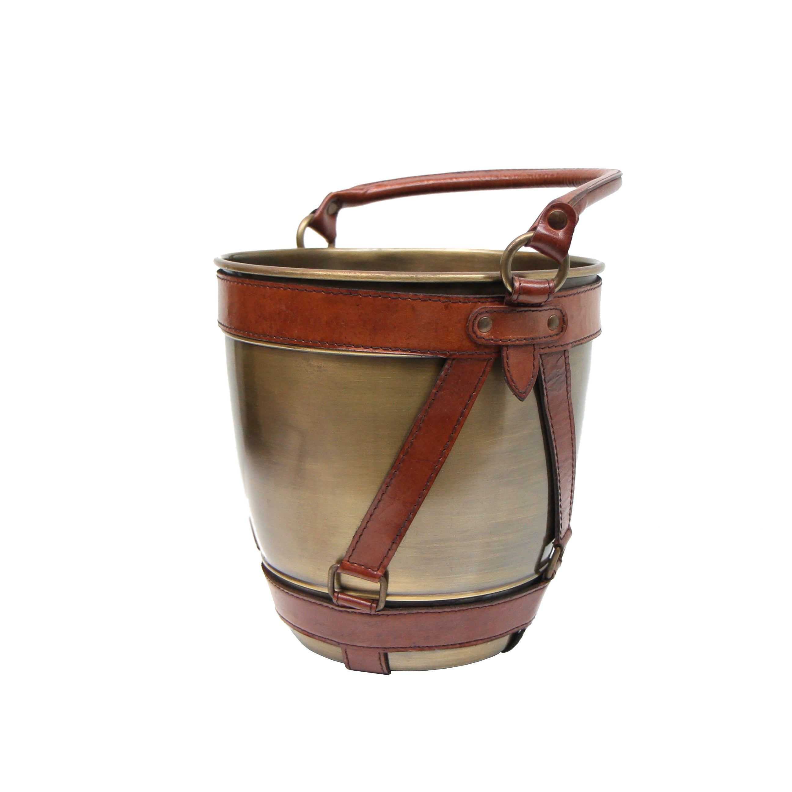 Leather & Bronze Champagne Bucket