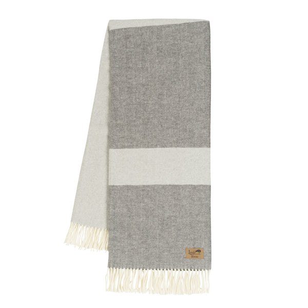 Colorblock Throw - Light Gray & Charcoal
