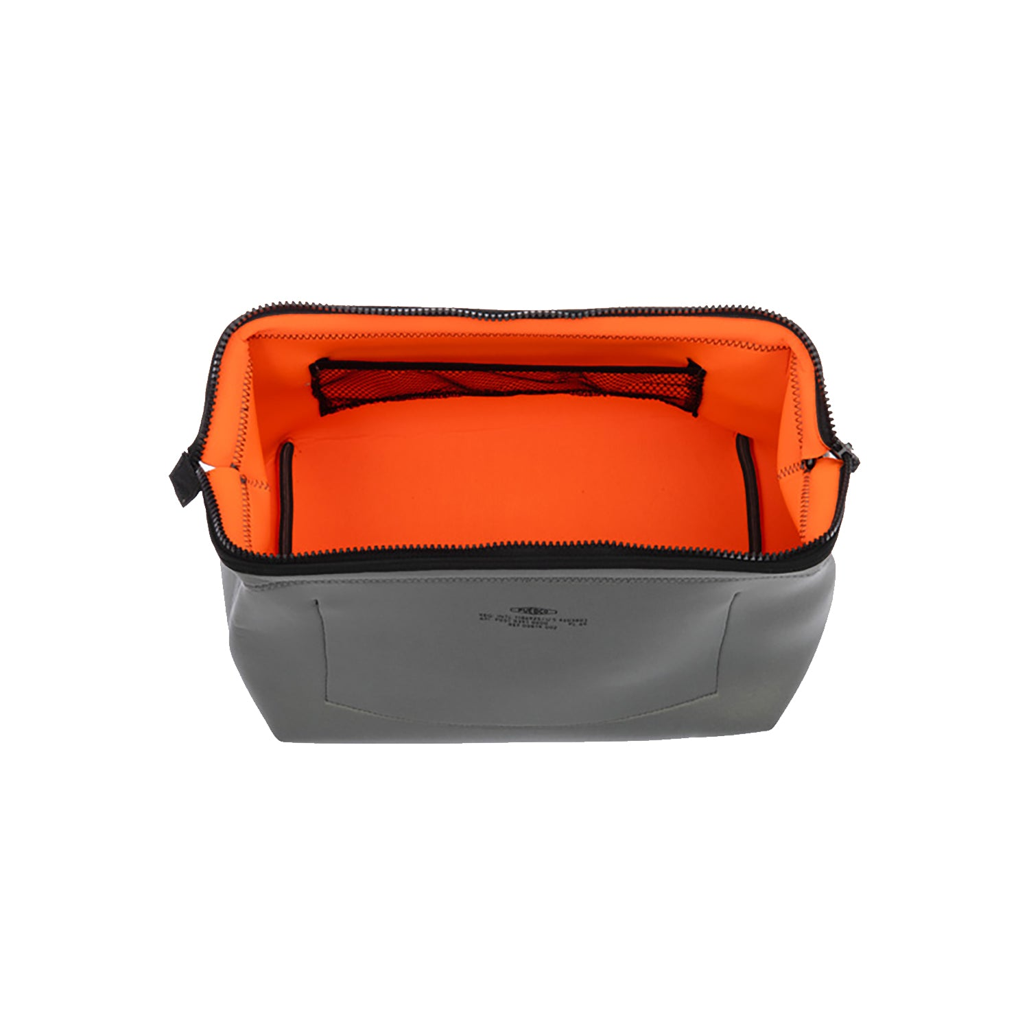 Wired Pouch  - Light Gray & Orange