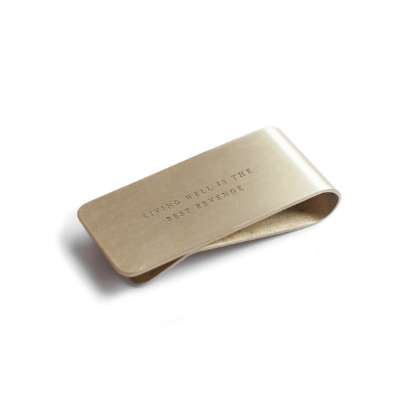 Brass Money Clip - Living Well