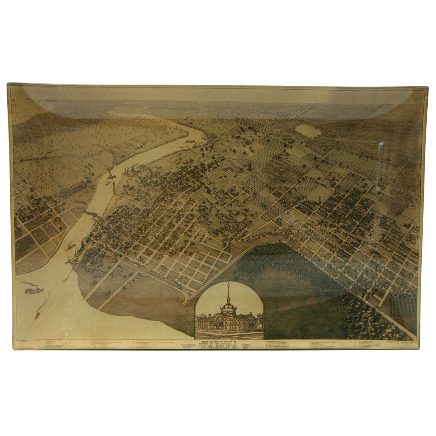 Map of Tampa 1892 Tray