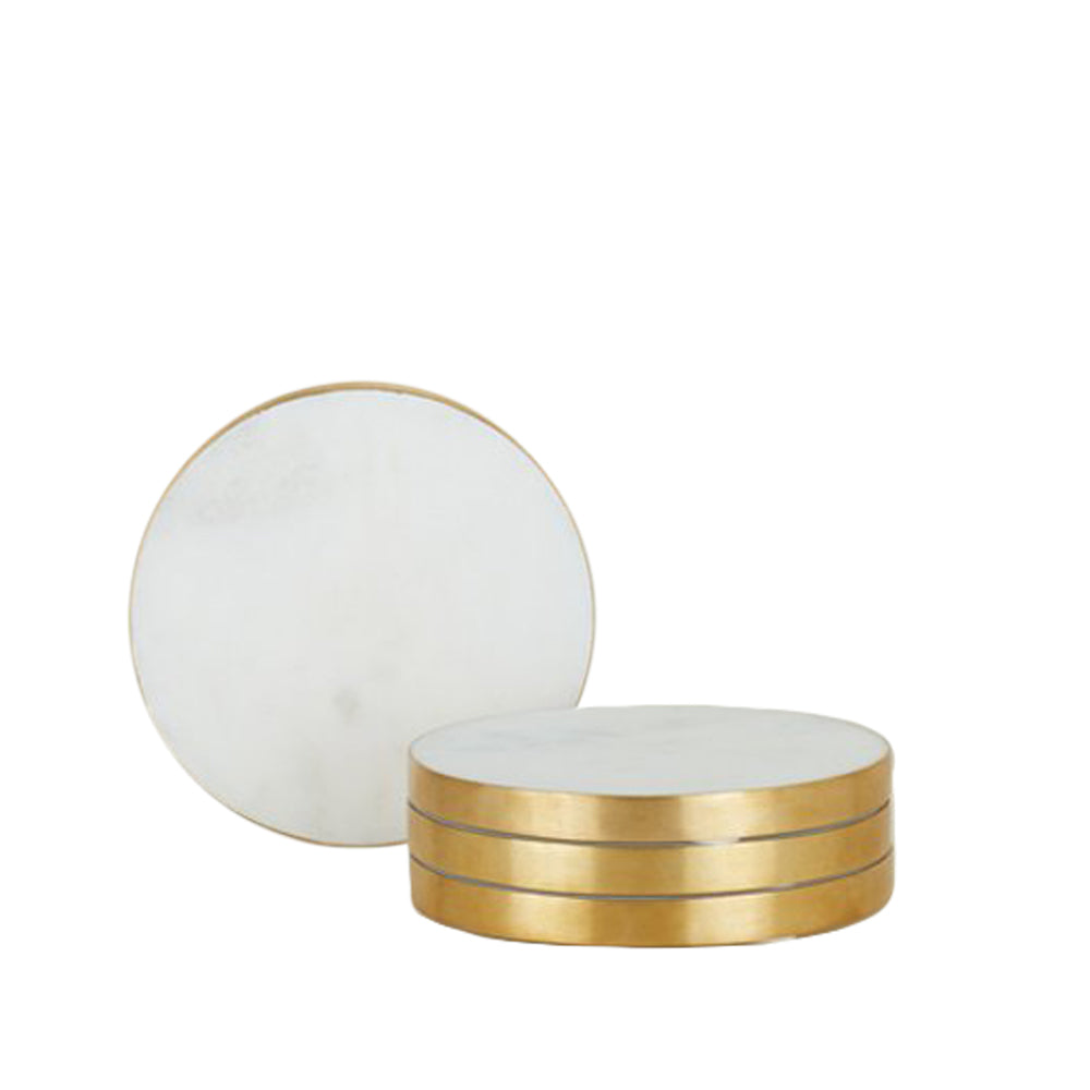 Simple Marble Coasters - Set of 4