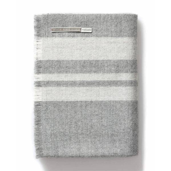 Alpaca Throw - Mazing Navy & Gray