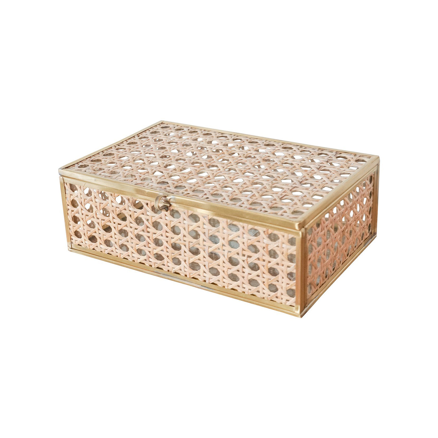 Natural Cane Wicker Box - Medium