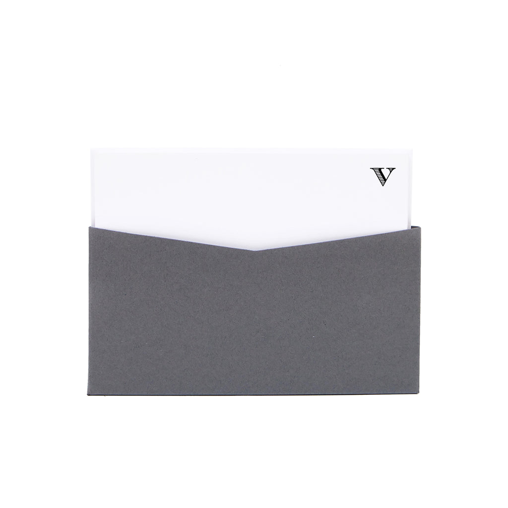Monogram Notecard Set - V