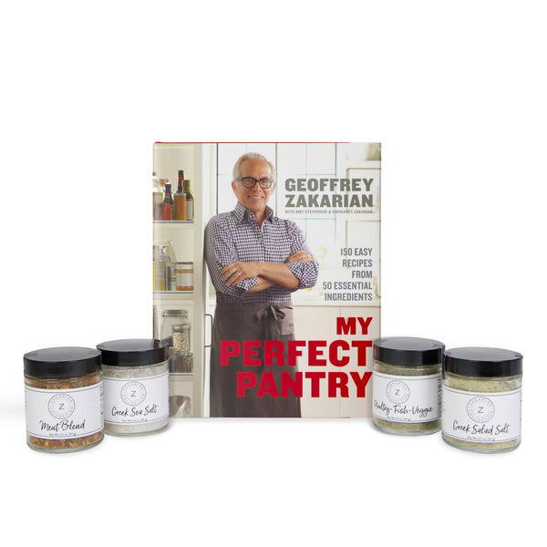 My Perfect Pantry (Signed & Personalized) & Zakarian Spice Set