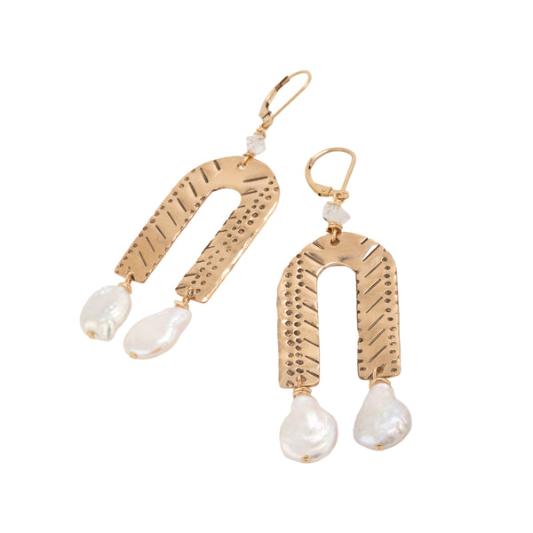 Myles Pearl Drop Earrings